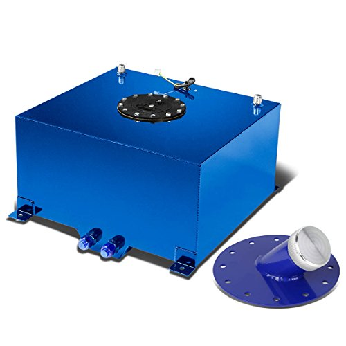 10-Gallon Blue Fuel Cell Gas Tank & Black Cap+45-Degree Fast Fill Neck (Blue) (10 Gal Fuel Cell compare prices)