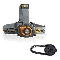 Fenix HL30 200 Lumen LED Headlamp with Smith & Wesson LED Carabiner Clip Light