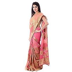 Shri Krishnam Women's Intricate Zari Motif Banarsi Saree (Multi Colour_Free Size)