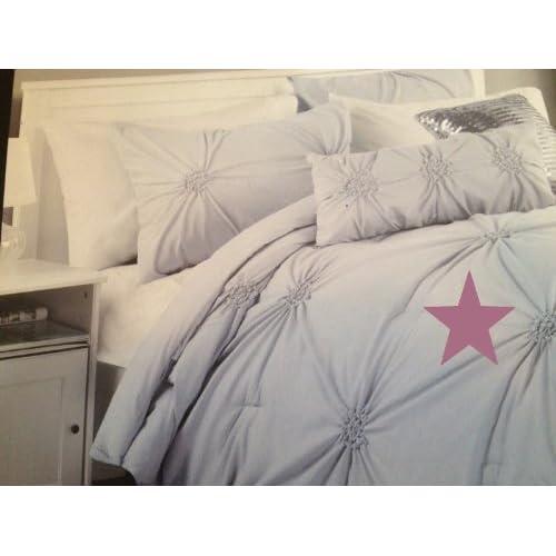 Amazon.com - Cynthia Rowley Soft Mauve Pleated Design Twin 2PC Duvet