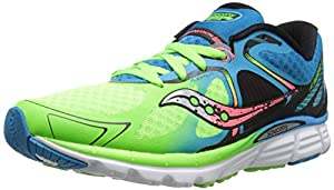 Saucony Men's Kinvara 6 Running Shoe, Blue/Slime/Coral,10.5 M US