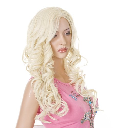 Christina Aguilera Style Bleach Blonde Thick and Curly Fashion Ladies Wig