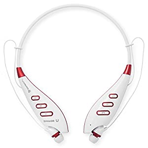 Rokit Boost SwageU Bluetooth Headphones - Built in Microphone - Compact Unique Design - Wireless Bluetooth Headset - Music and Hands Free Call Streaming (White)