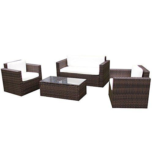 Gartenmoebel-Garten-Lounge-Set-Sitzmoebel-Cannes-in-braun-Rattan-Lounge-Polyrattan-Gartenausstattung-von-Jet-Line