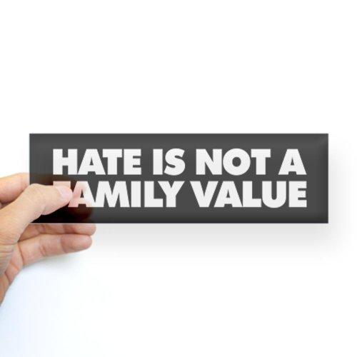 CafePress A Family Value Sticker Bumper - Standard Clear