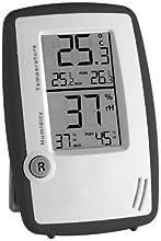 Wetterladen TFA-Dostmann - Medidor de temperatura y humedad ambiental, color blanco y negro