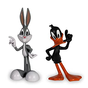 the looney tunes show figures bugs bunny and daffy duck 2 pack toys games. Black Bedroom Furniture Sets. Home Design Ideas
