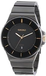 Seiko Men's SGEG19 New Collection Classic Black Ion Finish Watch