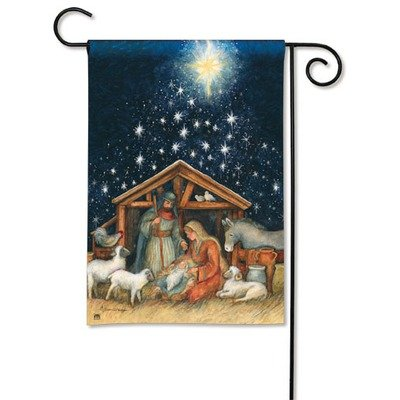 Magnet Works, Ltd. Holy Night Garden Flag