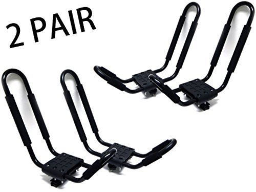 2-Pairs-Universal-J-Shape-Steel-Kayak-Canoe-Paddle-Surf-Snow-Board-Carrier-Roof-Rack-Car-Top-Mount