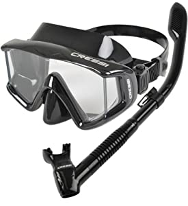 Buy Cressi Panoramic Wide View Mask Dry Snorkel Set by Cressi