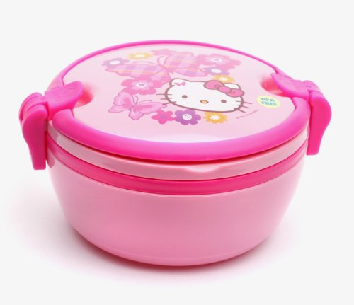 Hello Kitty Round Lunch Container: Butterfly