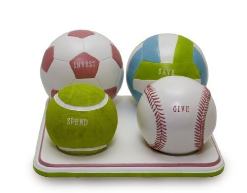 Girls Sport Coin Bank,Teaches Kids to Save, Invest, Give and Spend Money Wisely, Piggy Bank of the Future - 1