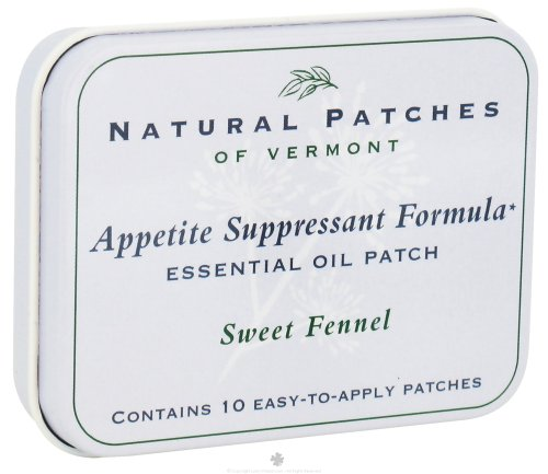 Natural Patches of Vermont Essential Oil Body Patch Appetite Suppressant Formula Sweet Fennel 10 Patch es