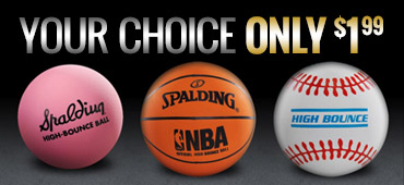 All Spaldeen balls, your choice for only 1.99