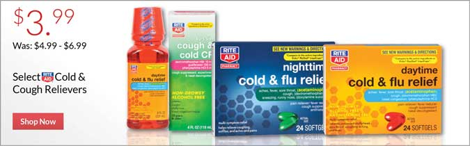Rite Aid Brand Cold and Cough Relievers, $3.99. Shop now.