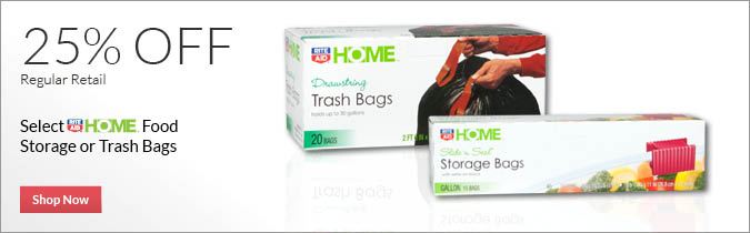 Select Rite Aid Brand Food Storage or Trash Bags, 25% OFF. Shop Now.