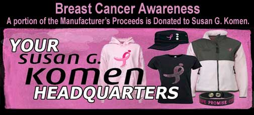 Susan G. Komen Clothing and Collectables for the Cure