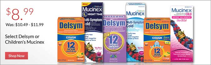 Delsym or Children's Mucinex, $8.99