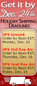 Get your gifts by Dec. 24th! Holiday Shipping Deadlines