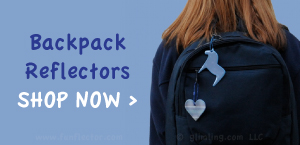 Backpack reflectors for back to school