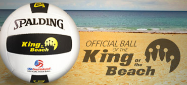 Spike like Karch Kiraly with our King of the Beach / USA Beach Official All Weather Volleyball