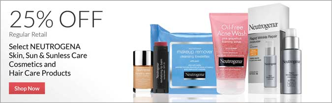 Neutrogena Skin, Sun & Men's Care, Cosmetics & Hair Care Products, 25% off