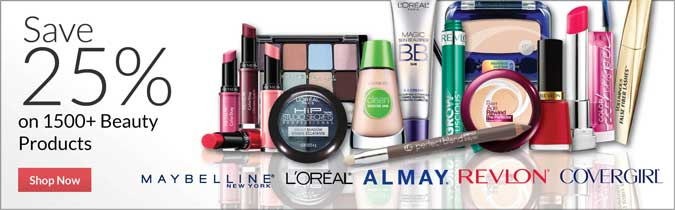 Save 25% on 1500+ Beauty Products, Shop Now