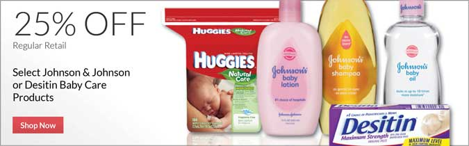 Select J&J or Desitin Baby Care Products, 25% Off. Shop Now.