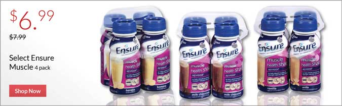 Ensure Muscle & Clear 4 Pack, $6.99