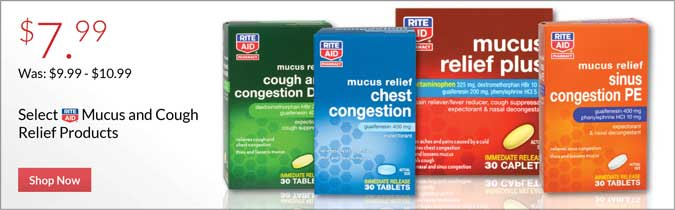 Rite Aid Brand Mucus Relief, Cough Relief, Cough DM Orange, Adult or Children's, $7.99
