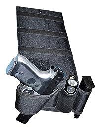 Under Mattress Bed Handgun Holster with Tactical Flashlight Loop
