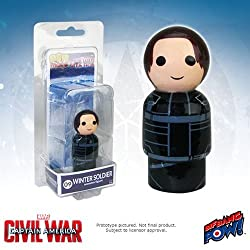 Bif Bang Pow! Captain America Civil War Winter Soldier Pin Mate Wooden Figure