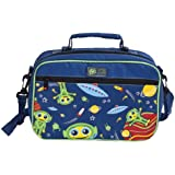 Insulated Lunch Bag - Multi-Compartment Bento Box Carrier Tote - Galaxy Design for Kids/Adults