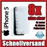 8 x Displayschutzfolie iPhone 5 5S 5C...