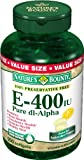 Vitamin E-400 I.u. Softgels with Pure Dl-alpha, By Natures Bounty – 250 Softgels Reviews