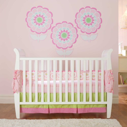 Flowers 3 Piece Baby Crib Bedding Set By Soothetime front-564125