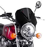 Fly screen Puig Vision black / dark smoke for MZ Skorpion Tour 660, Sachs Roadster 125/ 650/ 800
