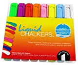 Liquid Chalk Markers 8 Pack - Bold, Beautiful Colors From the Artist Platinum Collection - Fun Guaranteed or Your Money Back - Amazing Ink - Boost Your Creativity With These Premium Wet Erase Marker Pens with Chalk as Ink - The Perfect Dustless Marker for Glass, Whiteboard & More - Classic Colors & White - The Reliable 6mm Chalk Pen