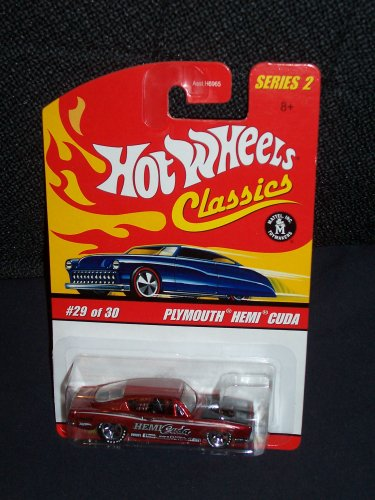 Hot Wheels Classics Series 2 # 29 of 30 Red Spectraflame Plymouth Hemi Cuda - 1