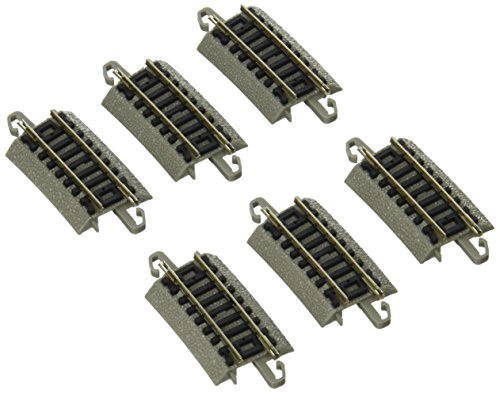 "Bachmann Industries E-Z Track Quarter Section 12.50"" Radius Curved Track (6/card) N Scale"