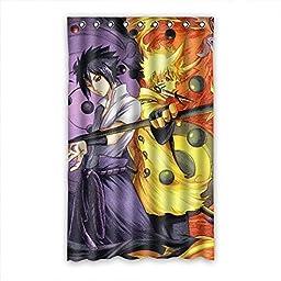 SANMOU Custom Anime Naruto Thermal Insulated Blackout Curtain 52\