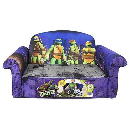Marshmallow Children's Furniture – 2 in 1 Flip Open Sofa – Teenage Mutant Ninja Turtles image