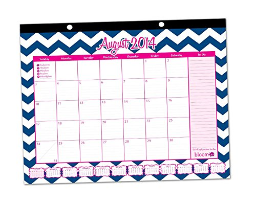 SKU 2014-15 Academic Desk Calendar with Vision Board August 2014 ...