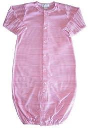 Kissy Kissy Baby Essentials Striped Convertible Gown-Fuchsia-Newborn