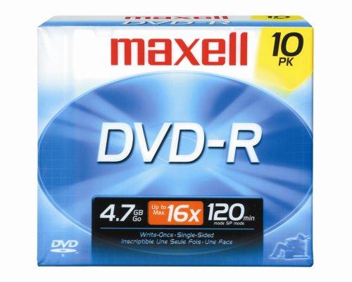 Maxell 638004 4.7Gb 16X Dvd-R - 10 Pack