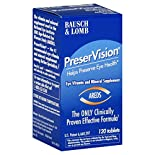 Bausch & Lomb PreserVision Eye Vitamin and Mineral Supplement, Tablets, 120 tablets