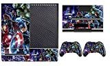 Avengers 260 Skin Sticker Cover Decal Protector for XBOX ONE Console Kinect and 2 controller skins