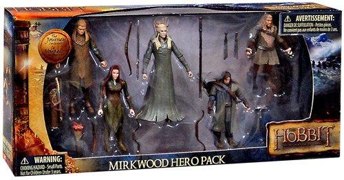 The Hobbit Mirkwood Hero Pack Set (Hobbit Action Figure Set compare prices)