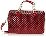Armani Jeans U6 Bauletto with Diamond Shape Patent Top Handle Bag,Red,One Size